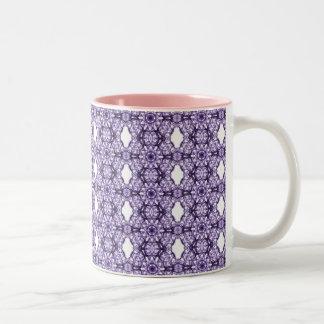 Modelo púrpura del fractal del cordón taza de dos tonos