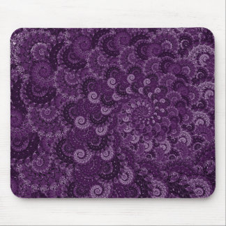 Modelo púrpura del fractal del remolino tapetes de raton