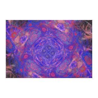 Modelo púrpura del fractal impresiones en lona