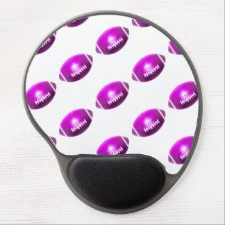 Modelo púrpura del fútbol alfombrilla de ratón con gel