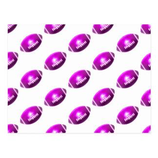 Modelo púrpura del fútbol tarjetas postales