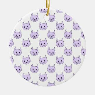 Modelo púrpura del gato de la lila adornos
