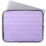 Modelo púrpura del gato de la lila funda ordendadores