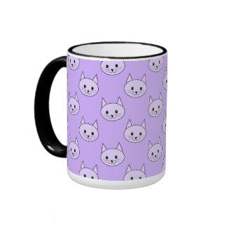 Modelo púrpura del gato de la lila taza a dos colores