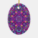 Modelo púrpura del Hippie de la mandala Ornamento De Navidad