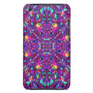 Modelo púrpura del Hippie de la mandala iPod Case-Mate Carcasa