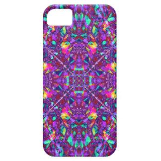 Modelo púrpura del Hippie de la mandala iPhone 5 Carcasa