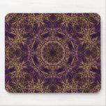 Modelo púrpura del Hippie de la mandala Tapete De Ratones
