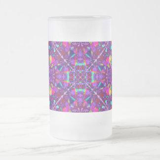 Modelo púrpura del Hippie de la mandala Taza De Cristal