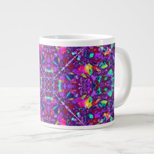Modelo púrpura del Hippie de la mandala Tazas Extra Grande