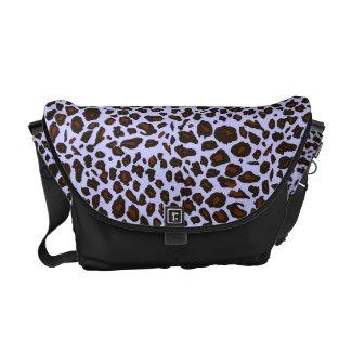 Modelo púrpura del leopardo de la lila bolsas de mensajeria