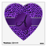 Modelo púrpura del leopardo del monograma