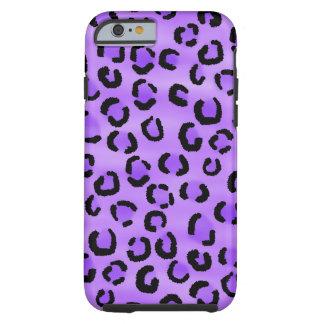 Modelo púrpura del leopardo funda de iPhone 6 tough