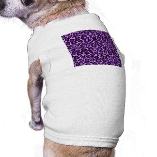 Modelo púrpura del leopardo playera sin mangas para perro