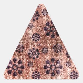 Modelo púrpura del molinillo de viento de la flor calcomanías trianguloes personalizadas