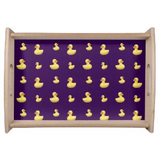 Modelo púrpura del pato bandeja