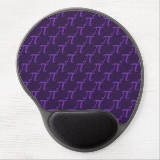 Modelo púrpura del pi alfombrillas de raton con gel