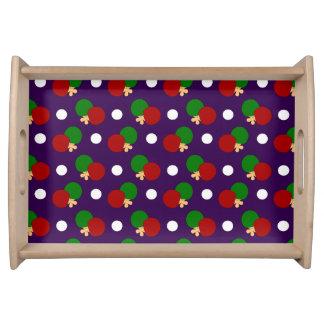 Modelo púrpura del ping-pong bandejas