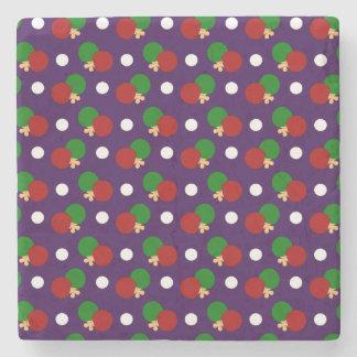 Modelo púrpura del ping-pong posavasos de piedra
