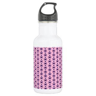 Modelo púrpura del punk rock de los cráneos del botella de agua