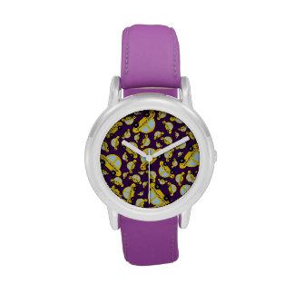 Modelo púrpura del taxi relojes de mano