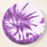 Modelo púrpura del teñido anudado posavasos personalizados