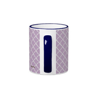 Modelo púrpura del teñido anudado taza a dos colores