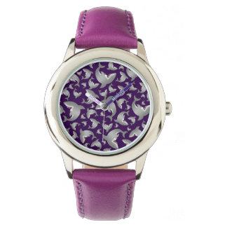 Modelo púrpura del tiburón relojes de pulsera