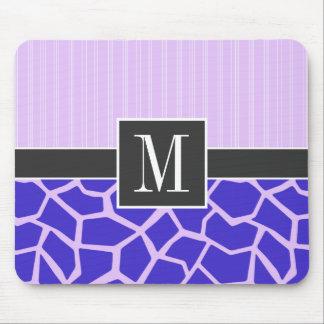 Modelo púrpura elegante de la jirafa tapete de ratón