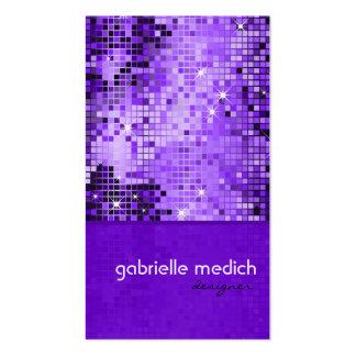 Modelo púrpura elegante del brillo de la secuencia tarjetas de visita