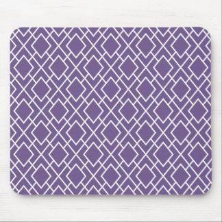 Modelo púrpura elegante moderno del diamante tapete de raton