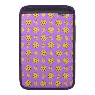Modelo púrpura en colores pastel de la pizza funda para macbook air