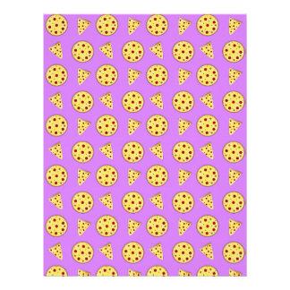 Modelo púrpura en colores pastel de la pizza membrete personalizado