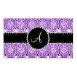 Modelo púrpura en colores pastel del enrejado del  plantilla de tarjeta de negocio