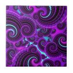 Modelo púrpura enrrollado del arte del fractal del teja  ceramica