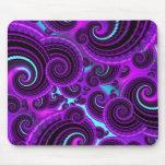 Modelo púrpura enrrollado del arte del fractal del tapete de ratones