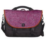 Modelo púrpura femenino del diamante bolsas de ordenador