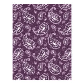 modelo púrpura fresco del vintage membrete