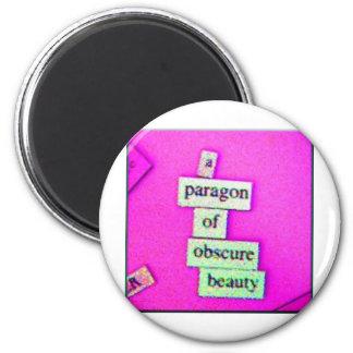 Modelo (púrpura) imán redondo 5 cm