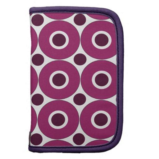 Modelo púrpura intrépido de los círculos concéntri organizador
