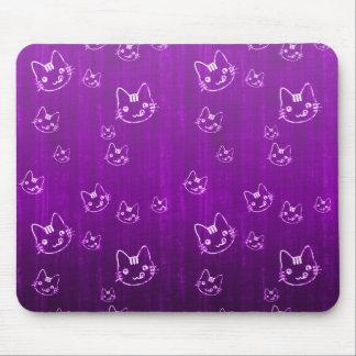 Modelo púrpura japonés lindo fresco del neko del g alfombrilla de raton