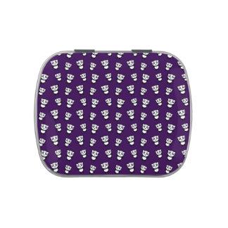 Modelo púrpura lindo de la panda latas de dulces