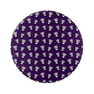 Modelo púrpura lindo de la panda jarrones de caramelos