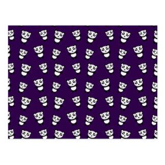 Modelo púrpura lindo de la panda postal