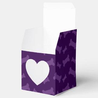 Modelo púrpura lindo de los huesos de perro cajas para regalos de boda