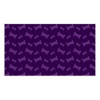 Modelo púrpura lindo de los huesos de perro plantilla de tarjeta de negocio