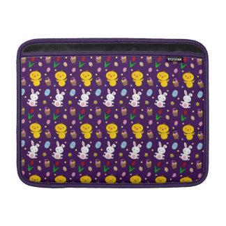 Modelo púrpura lindo de pascua de la cesta del hue funda macbook air