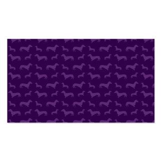 Modelo púrpura lindo del dachshund tarjeta de visita