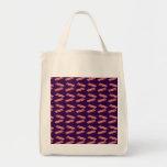 Modelo púrpura lindo del tocino bolsa lienzo