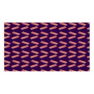Modelo púrpura lindo del tocino plantillas de tarjeta de negocio